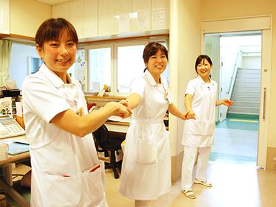 敬仁病院のナースステーション