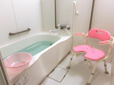 ガーデンフィールズふちえの個浴槽の浴室