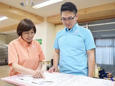 看護師と介護スタッフが連携し、臨機応変で柔軟なサービスを実現しています。