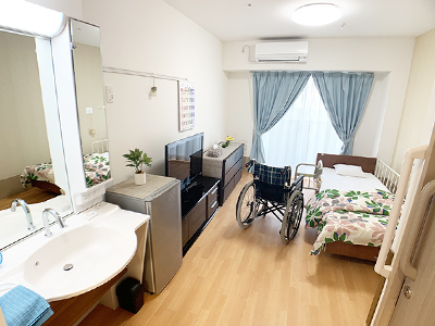 各居室は、家庭的な雰囲気のプライベート空間です。