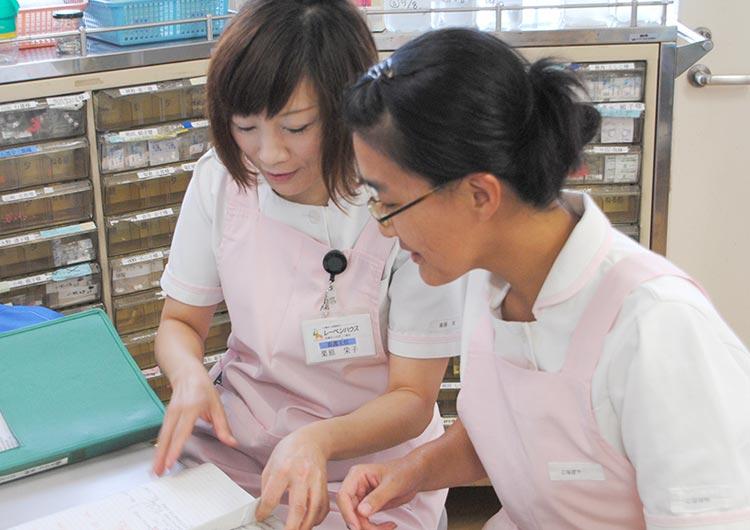 看護師同士での協力と情報共有が丁寧で円滑な看護提供を推進しています。